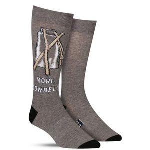 """K. Bell """"More Cowbell"""" Men's socks"""